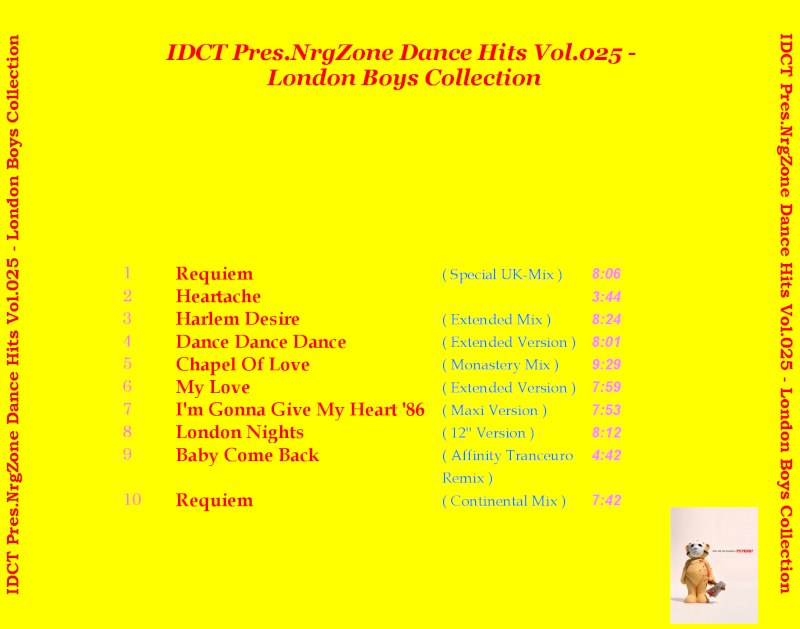 NrgZone Dance Hits Vol.025 - London Boys Collection
