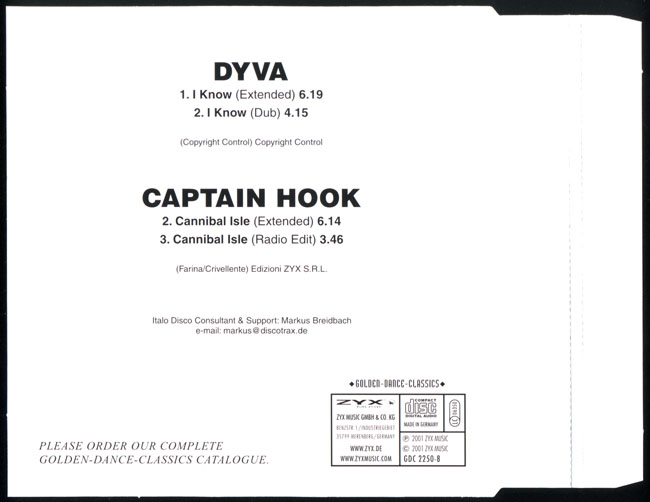 Dyva & Captain Hook Maxi CD