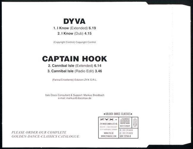 Dyva & Captain Hook Maxi CD
