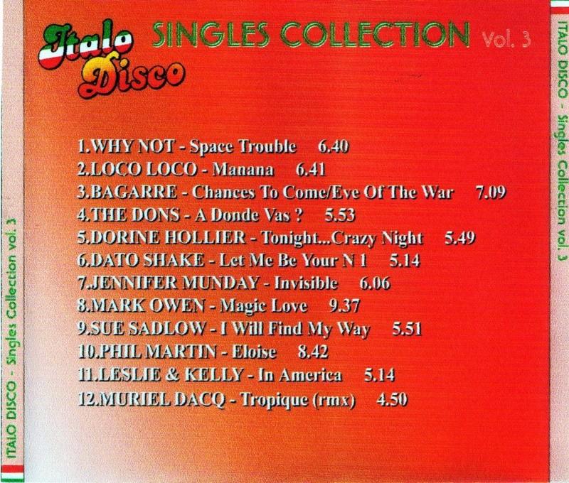 Italo Disco Singles Collection Vol.3