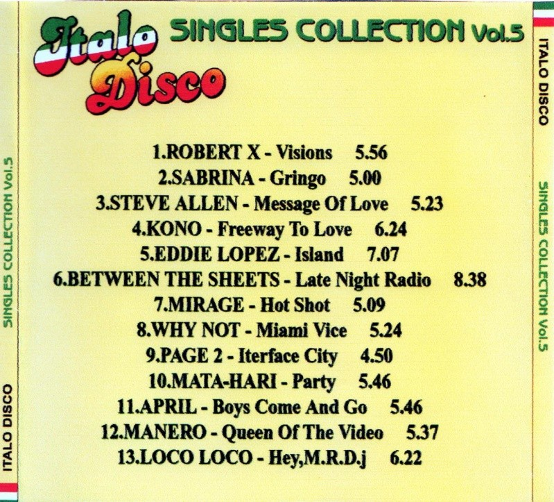 Italo Disco Singles Collection Vol.5