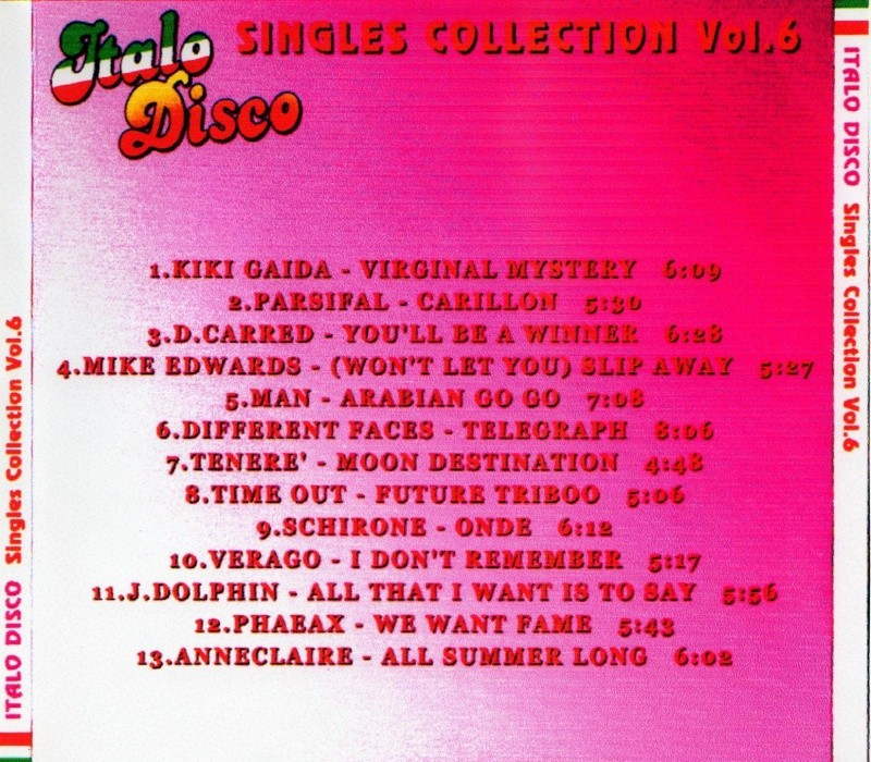 Italo Disco Singles Collection Vol.6