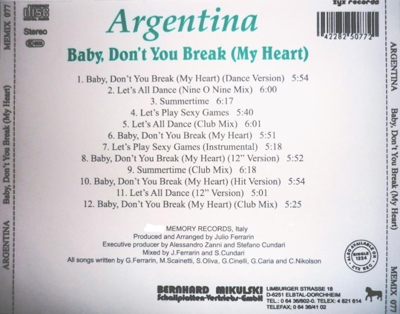 Argentina - Baby, Don't You Break...