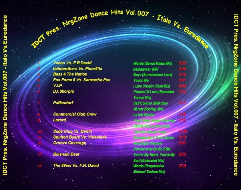 IDCT Pres. NrgZone Dance Hits Vol.007 - Italo Vs. Eurodance