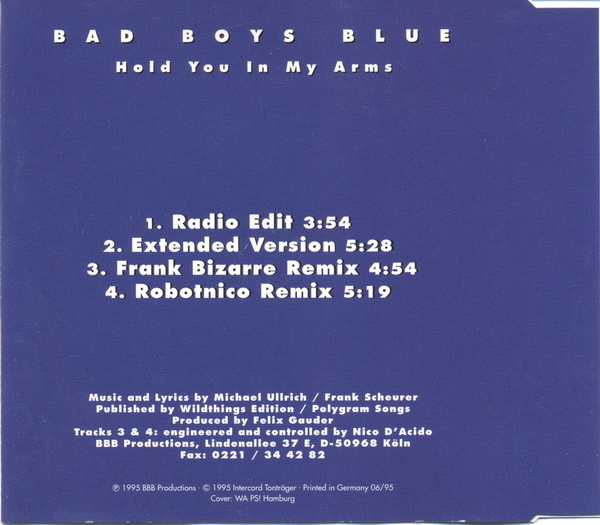 Bad Boys Blue - Hold You In My Arms - Maxi