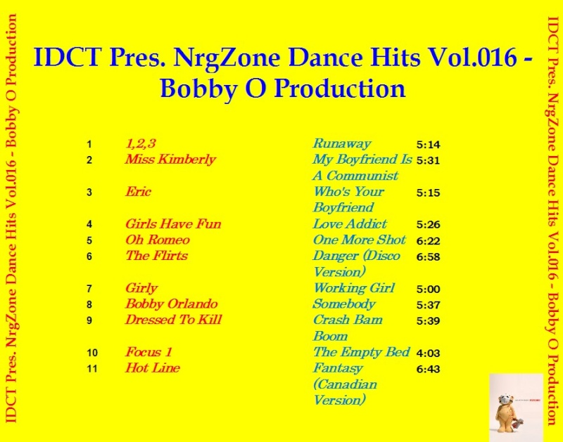 NrgZone Dance Hits Vol.016 - Bobby O Production