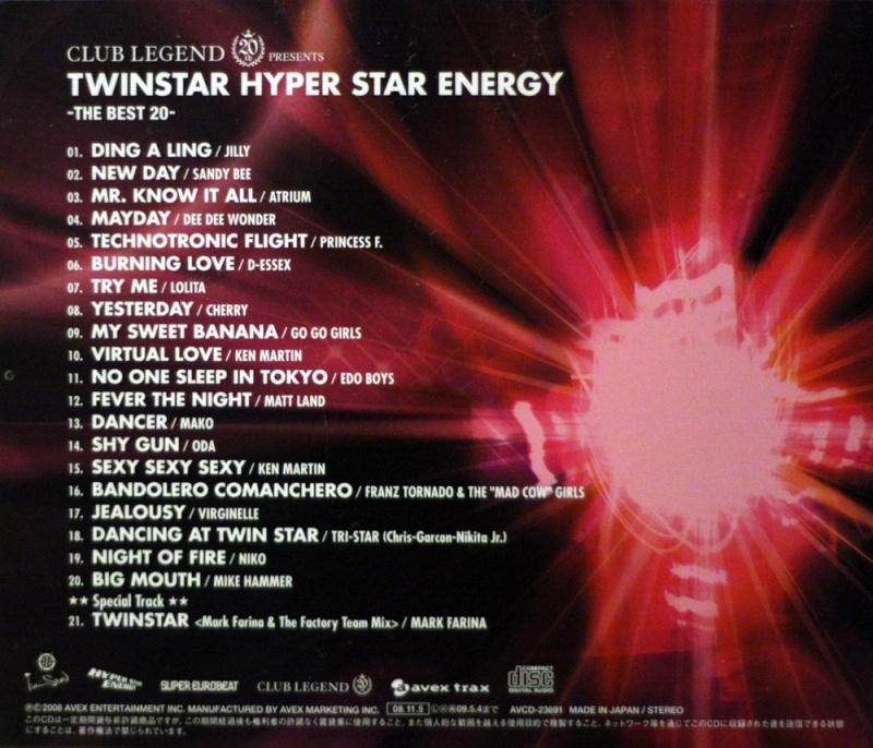 Club Legend 20th Presents TWINSTAR HYPER STAR ENERGY -The Best 20 (Limited Edition)