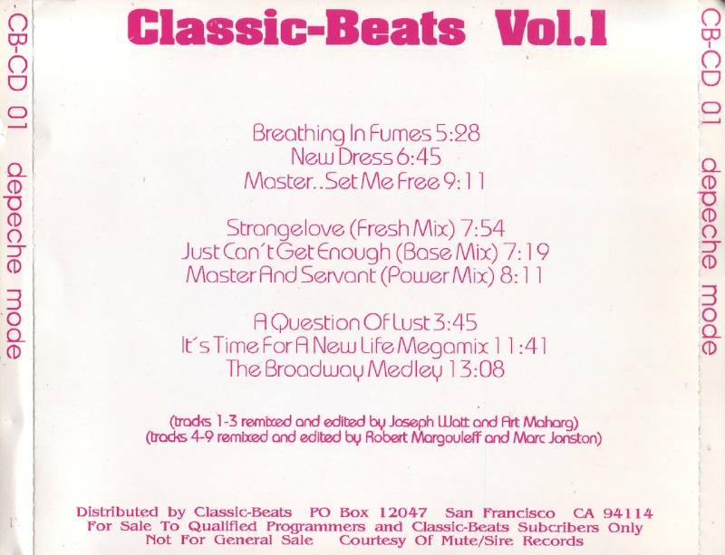 Depeche Mode - Classic Beats Vol.1