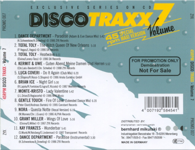 45 RPM Disco Traxx Vol 07