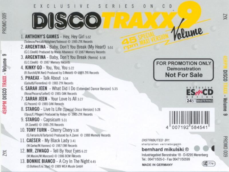 45 RPM Disco Traxx Vol 09