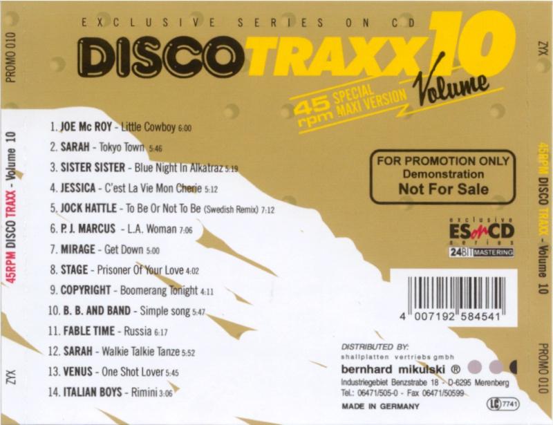 45 RPM Disco Traxx Vol 10