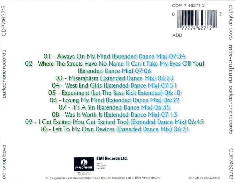 Pet Shop Boys - Mix Culture