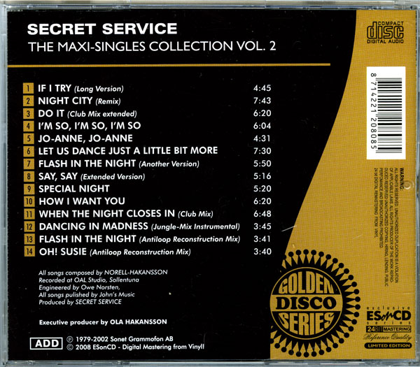 Secret Service - The Maxi Singles Collection Vol.02