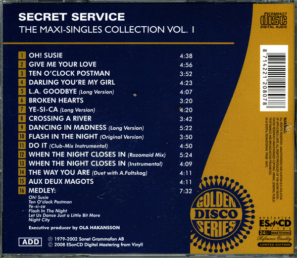 Secret Service - The Maxi Singles Collection Vol.01