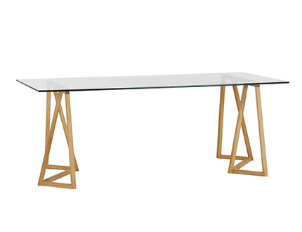 Table jazmine by habitat - Table de coupe verre ...