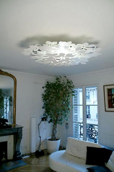 Plafonnier frondaison by f lix bulcourt - Grand plafonnier design ...