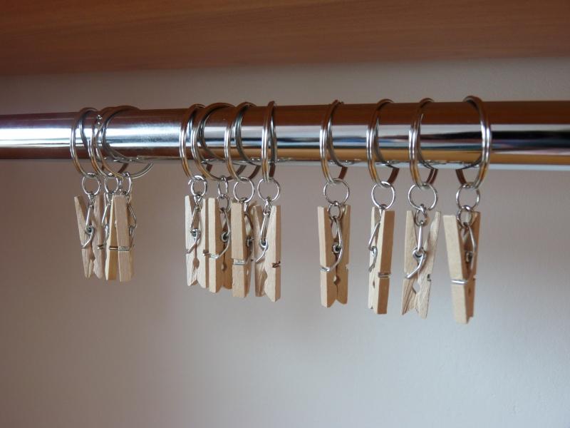 nice anneaux rideaux avec pinces #7: lot de 14 anneaux de rideau