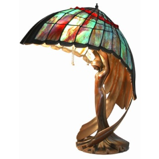 Table Lamp Flying Lady Peter Behrens Reproductions