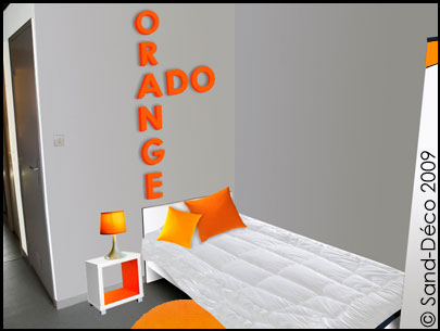 Deco chambre orange et gris design de maison for Chambre ado orange et gris