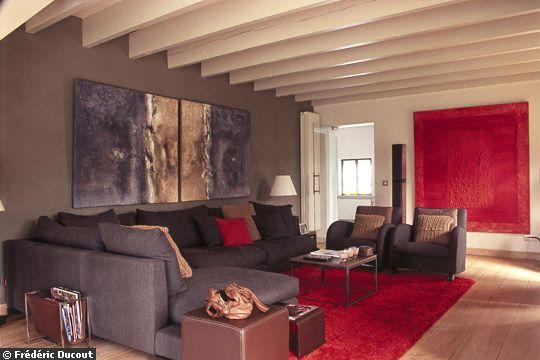 Besoin de conseils pour la d co de mon nouveau duplex for Deco salon gris et marron