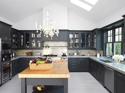 Awesome Cuisine Bois Repeinte Noire Contemporary  Design Trends