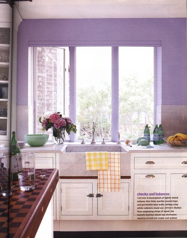 Peinture de cuisine cuisine mur parme or peinture de - Peinture murs cuisine ...