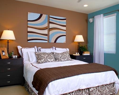 chambre turquoise et marron la premire tant plus raffine - Chambre Turquoise Et Marron