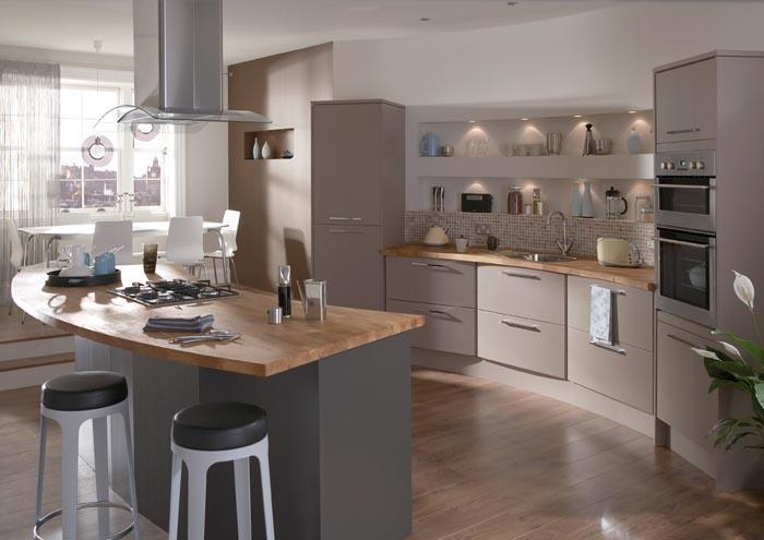 conseil couleur peinture et faience pour une cuisine couleur taupe. Black Bedroom Furniture Sets. Home Design Ideas