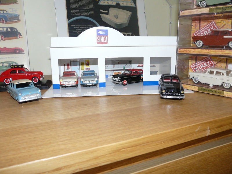 garage tole maill pour voiture norev dinky toys. Black Bedroom Furniture Sets. Home Design Ideas