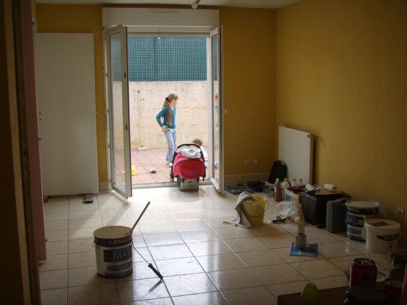 Entree cuisine salle manger et salon dans la meme piece - Idee de peinture pour salon et salle a manger ...