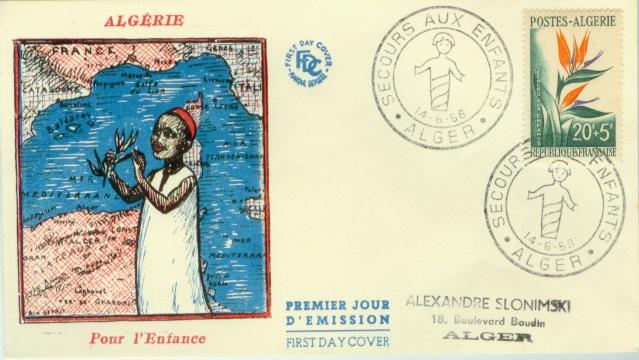 timbre,Philatelie,FDC,enveloppe,premier jour,France,Algerie