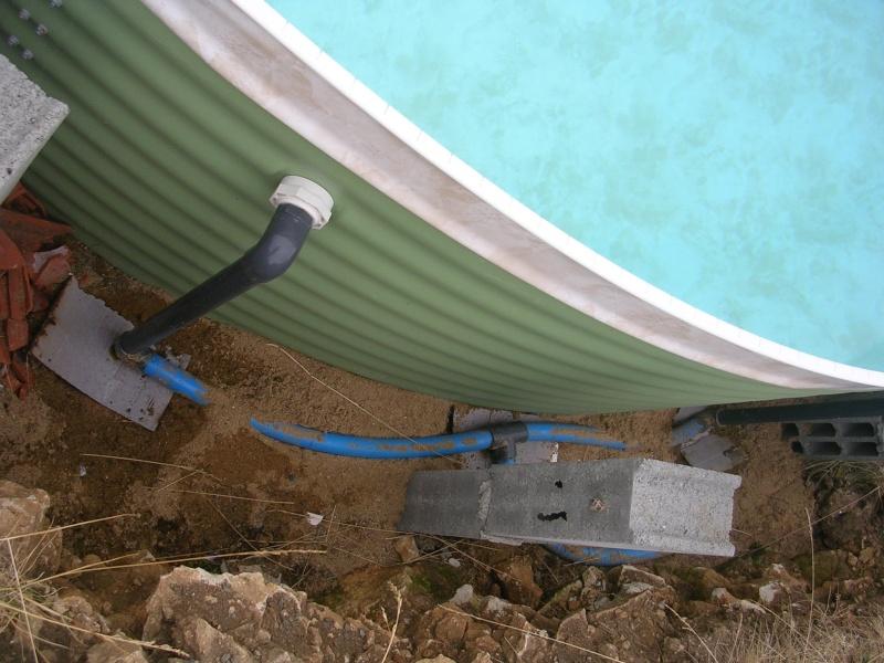 Fuite filtre et raccords tuyaux suite mise en eau - Piscine inox sans liner ...