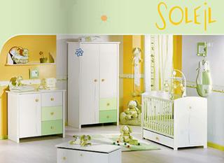 Chambre enfant vert et gris for Chambre orange et vert anis